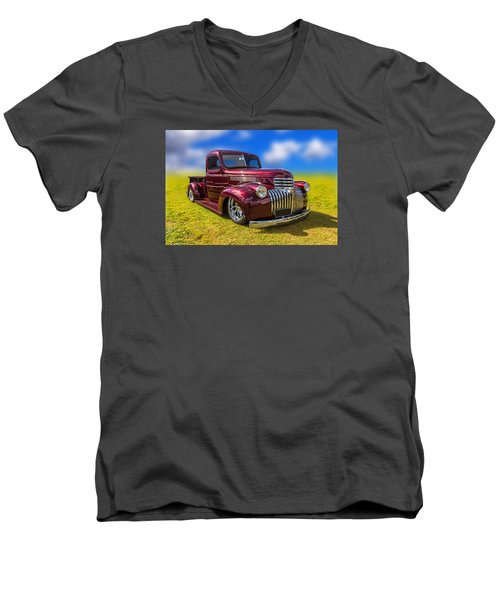 Dream Truck Men's V-Neck T-Shirt by Keith Hawley