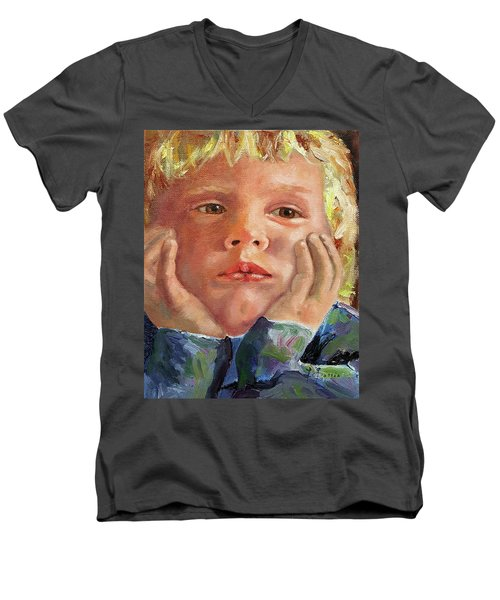 Dreamer Men's V-Neck T-Shirt by Janet Garcia