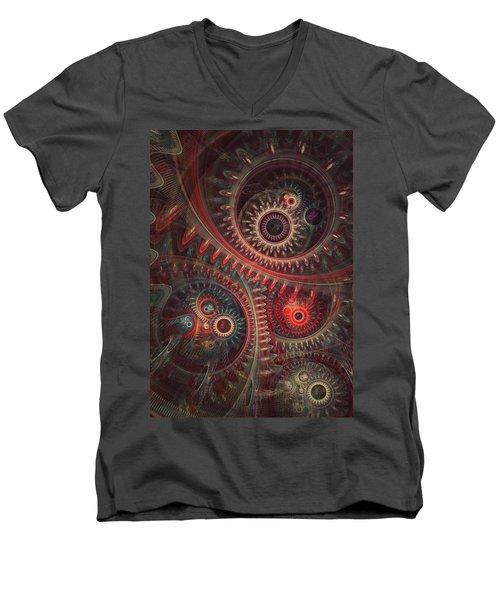 Dreaming Clocksmith Men's V-Neck T-Shirt by Martin Capek