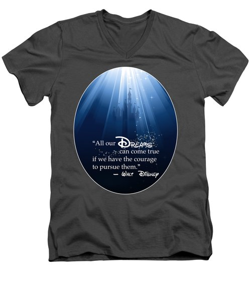 Dreams Can Come True Men's V-Neck T-Shirt by Nancy Ingersoll