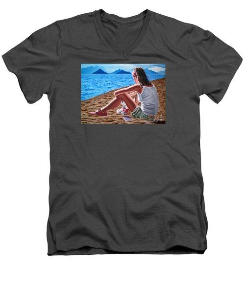 Dreams During The Day- Suenos Durante El Dia Men's V-Neck T-Shirt