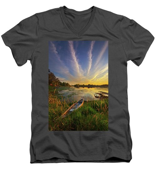 Men's V-Neck T-Shirt featuring the photograph Dreams Of Dusk by Phil Koch