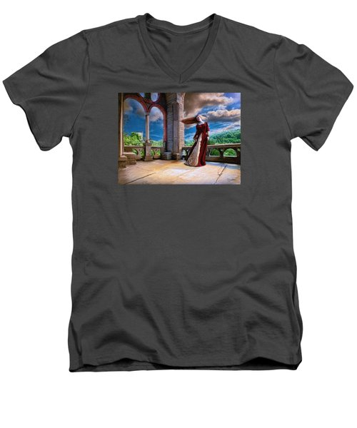 Men's V-Neck T-Shirt featuring the painting Dreams Of Heaven by Dave Luebbert