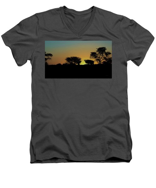 Dreams Of Namibian Sunsets Men's V-Neck T-Shirt by Ernie Echols