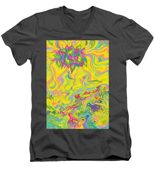 Dreamscaped Swamp-garden 1 Men's V-Neck T-Shirt