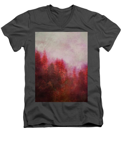 Dreamy Autumn Forest Men's V-Neck T-Shirt