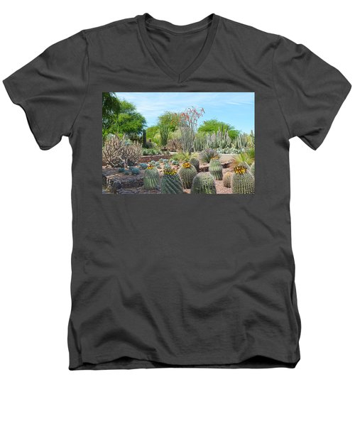 Dreamy Desert Cactus Men's V-Neck T-Shirt by Aimee L Maher Photography and Art Visit ALMGallerydotcom