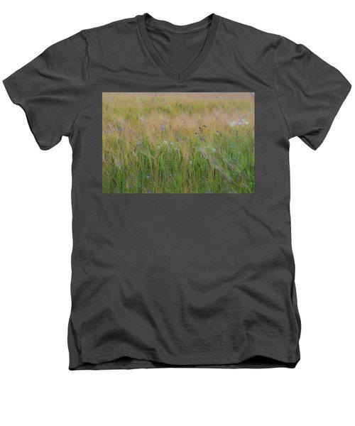 Dreamy Meadow Men's V-Neck T-Shirt