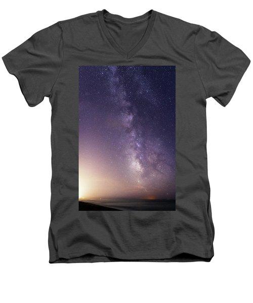 Dreamy Milky Way Men's V-Neck T-Shirt