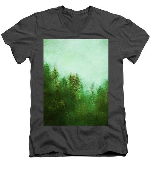 Dreamy Spring Forest Men's V-Neck T-Shirt