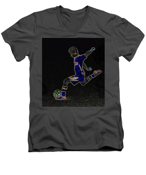 Dribbling Men's V-Neck T-Shirt