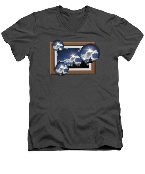 Men's V-Neck T-Shirt featuring the photograph Drifting Away by Shane Bechler