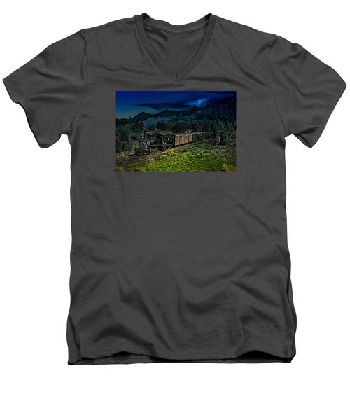 Drifting Down To Antonitio Men's V-Neck T-Shirt