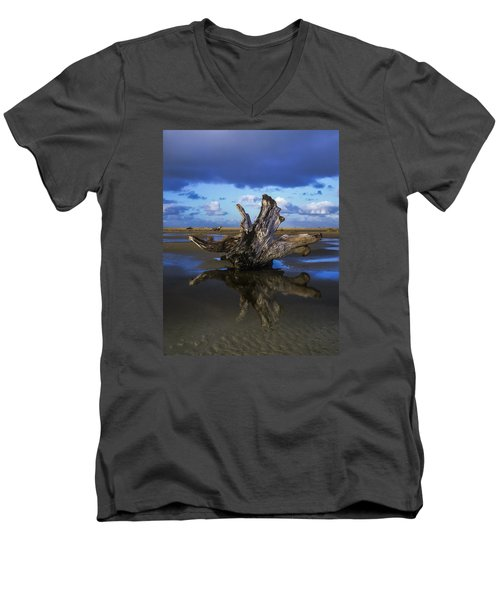 Driftwood And Reflection Men's V-Neck T-Shirt