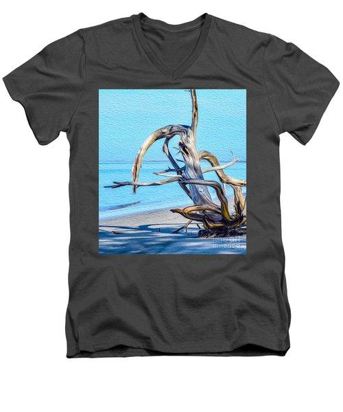 Driftwood On Jekyll Men's V-Neck T-Shirt