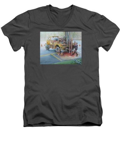 Drill,drill,drill Men's V-Neck T-Shirt by Oz Freedgood