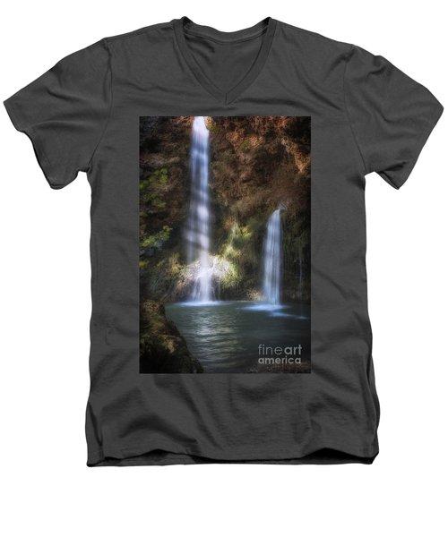 Dripping Springs Falls Men's V-Neck T-Shirt