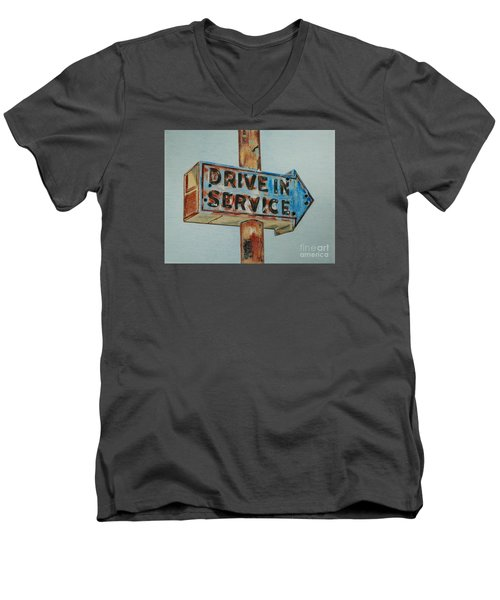 Drive In Service Men's V-Neck T-Shirt