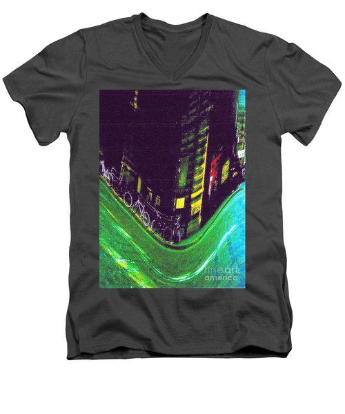 Driving By - Night Time In Bologna Men's V-Neck T-Shirt
