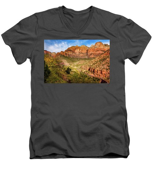 Driving Into Zion Men's V-Neck T-Shirt