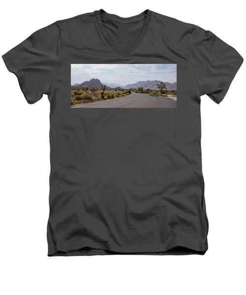 Driving Through Joshua Tree National Park Men's V-Neck T-Shirt