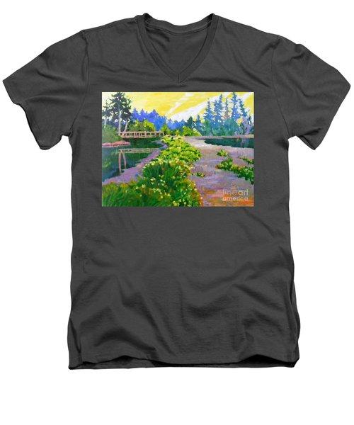 Drizzling Seaside Men's V-Neck T-Shirt
