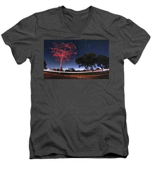 Drone Tree Men's V-Neck T-Shirt by Andrew Nourse