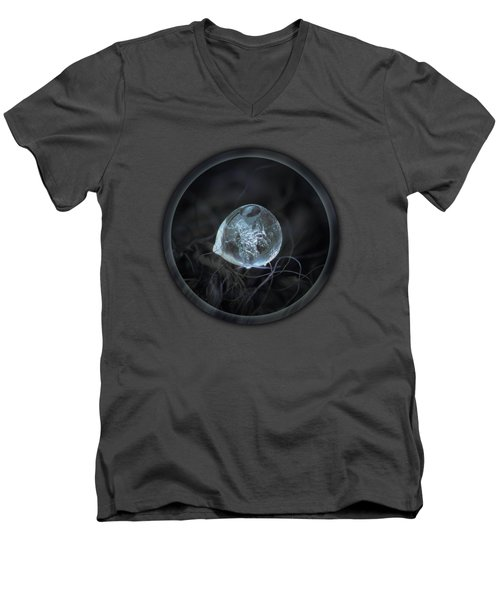 Drop Of Ice Rain Men's V-Neck T-Shirt