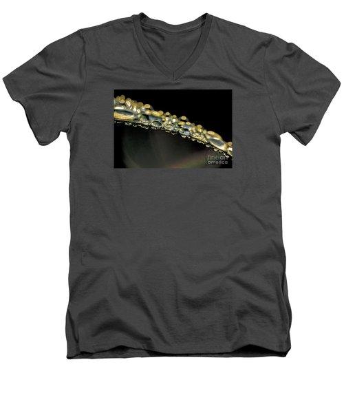 Drops On The Green Grass Men's V-Neck T-Shirt