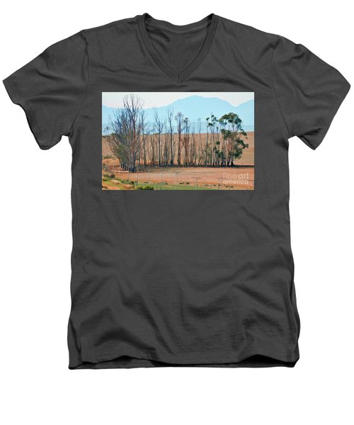 Drought-stricken South African Farmlands - 3 Of 3 Men's V-Neck T-Shirt