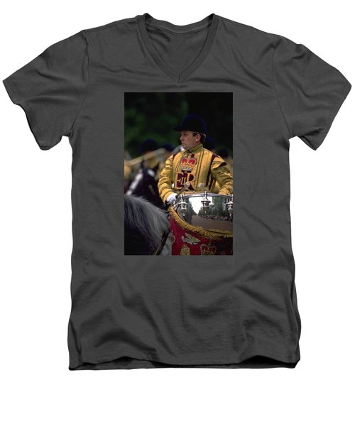 Drum Horse At Trooping The Colour Men's V-Neck T-Shirt