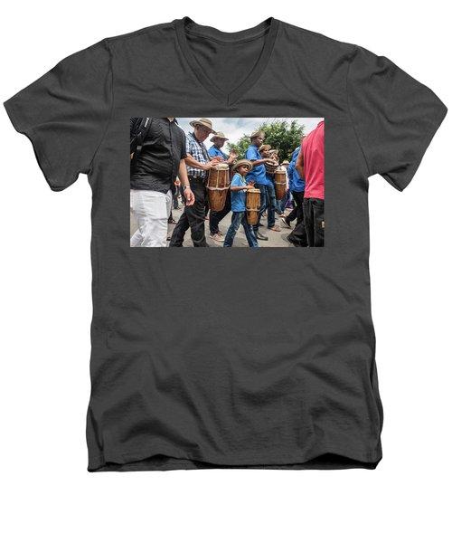Drummer Boy In Parade Men's V-Neck T-Shirt