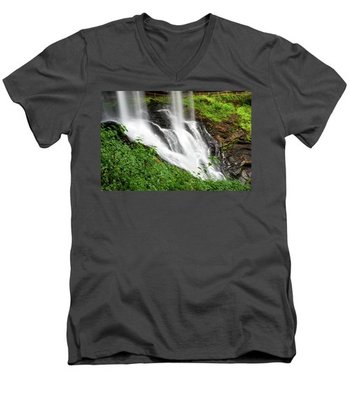 Men's V-Neck T-Shirt featuring the photograph Dry Falls by Allen Carroll