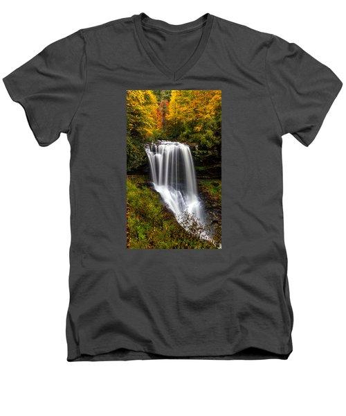 Dry Falls In October  Men's V-Neck T-Shirt