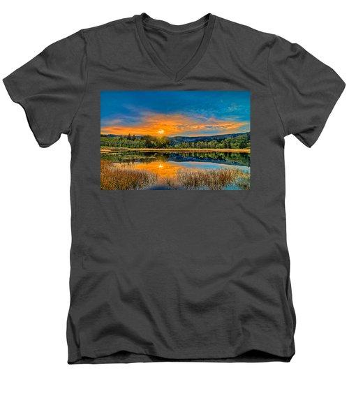 Dry Lagoon Spring Morning Men's V-Neck T-Shirt