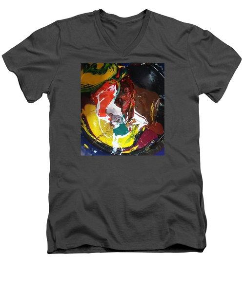 Dry Paprika Men's V-Neck T-Shirt by Gyula Julian Lovas