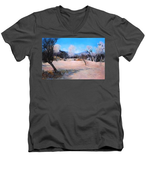 Dry Wash In Winter Men's V-Neck T-Shirt