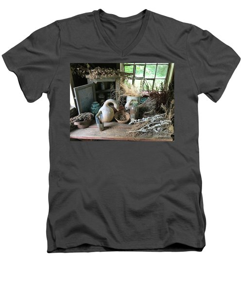 Drying Herbs And Flowers Men's V-Neck T-Shirt