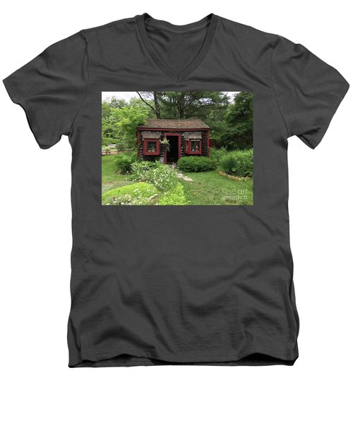 Drying Shed For Herbs Men's V-Neck T-Shirt