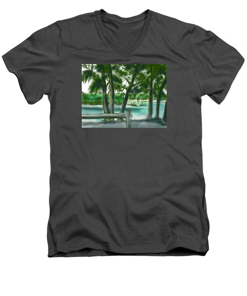 Dubois Park Lagoon Men's V-Neck T-Shirt