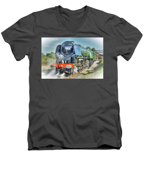 Duchess At Butterley Station Men's V-Neck T-Shirt