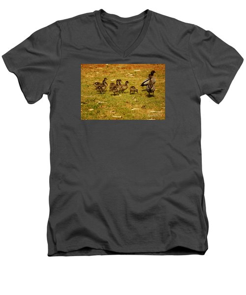 Duck Family I Men's V-Neck T-Shirt