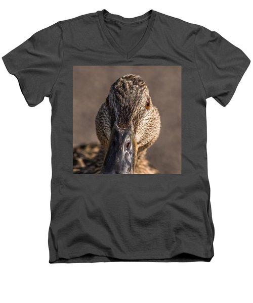Duck Headshot Men's V-Neck T-Shirt