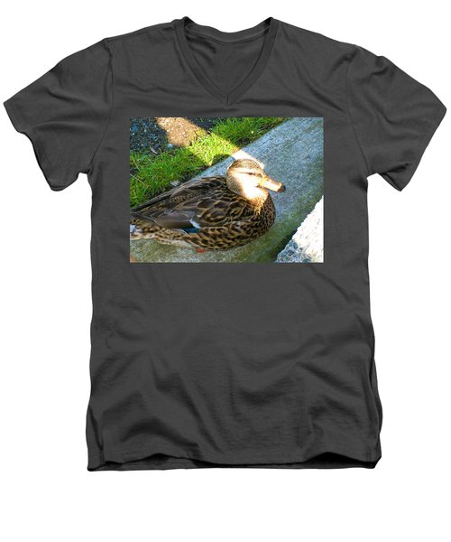 Duck Melanie Tweed In  The Sun Men's V-Neck T-Shirt