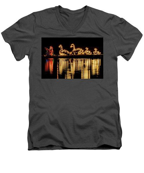 Duck Pond Christmas Men's V-Neck T-Shirt