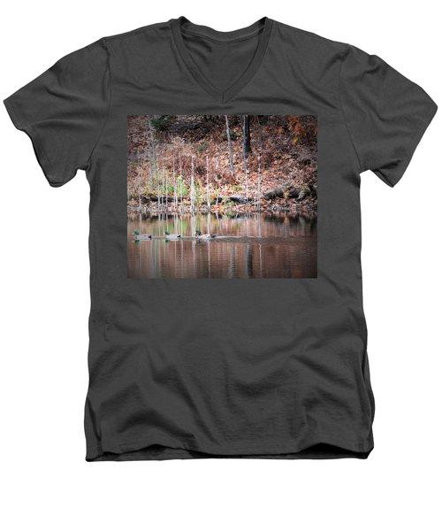 Ducks In A Row Men's V-Neck T-Shirt