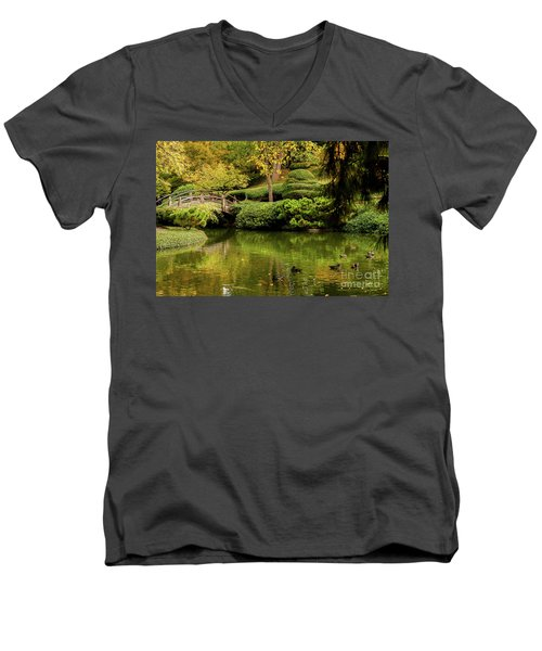 Men's V-Neck T-Shirt featuring the photograph Ducks In Summertime by Iris Greenwell