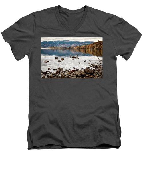 Ducks On Derwent Men's V-Neck T-Shirt