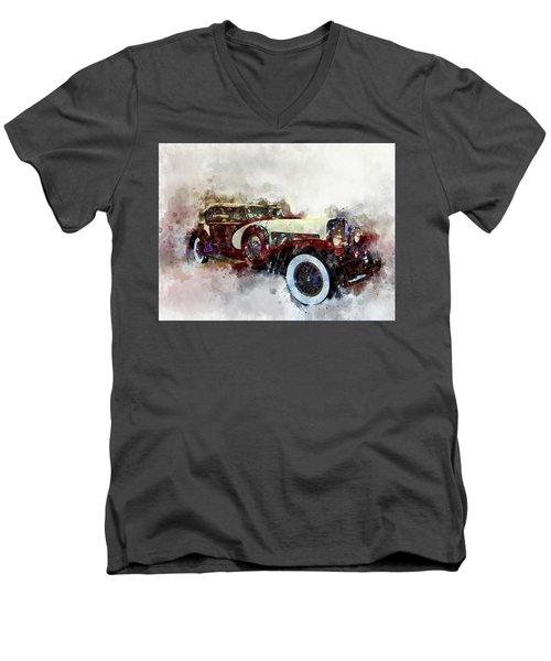 Duesenberg Watercolor Men's V-Neck T-Shirt