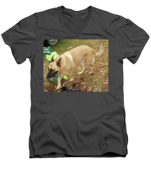 Duke Men's V-Neck T-Shirt by Jerry Battle